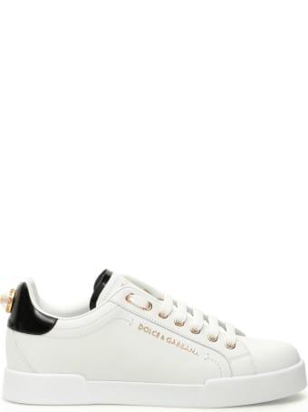 Dolce & Gabbana Portofino Sneakers With Pearl