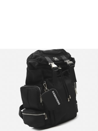 Dsquared2 Technical Fabric Backpack With Logo Patch