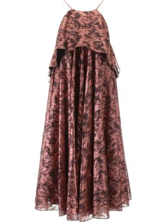 Halpern Metallic Dress