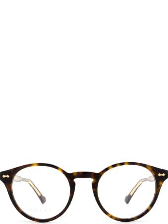 Gucci Gucci Gg0738o Havana Glasses