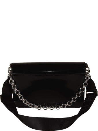 Furla Chain Detail Flap Logo Shoulder Bag