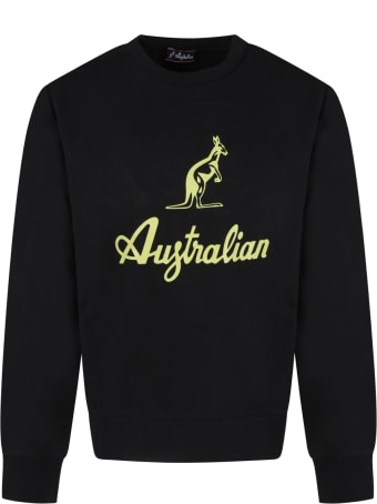 Australian Black Sweatshirt For Boy With Green Logo