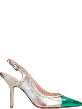 Anna F. Pumps In Platinum Leather