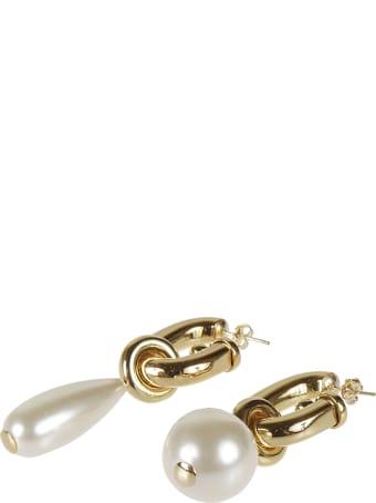 Paco Rabanne Round Pearl Earrings