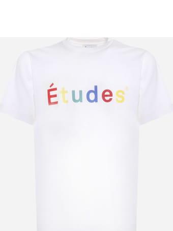 Études Cotton T-shirt With Multicolor Logo Print