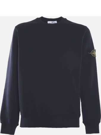 Stone Island Cotton Sweatshirt With Logo Patch