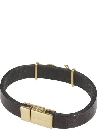 Saint Laurent Ysl Logo Plaque Bracelet