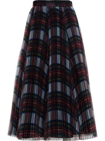 Philosophy di Lorenzo Serafini Long Pleated Tartan Skirt
