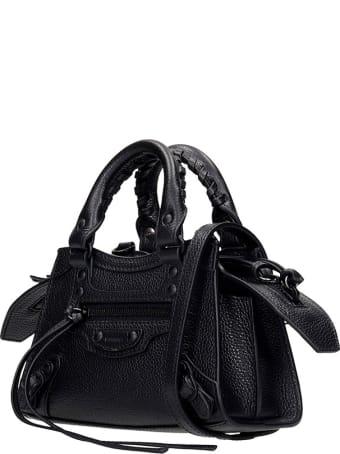 Balenciaga Neo Classic Nan Hand Bag In Black Leather