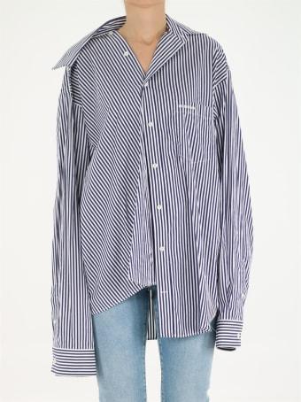 Balenciaga Twisted Striped Shirt