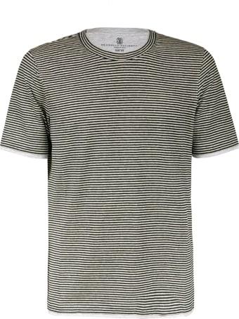 Brunello Cucinelli Stripe Print T-shirt