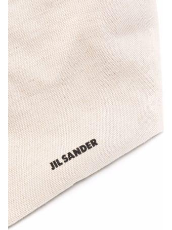Jil Sander Drawstring Bag In Canvas