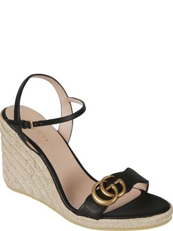 Gucci Lifford Wedge Sandals