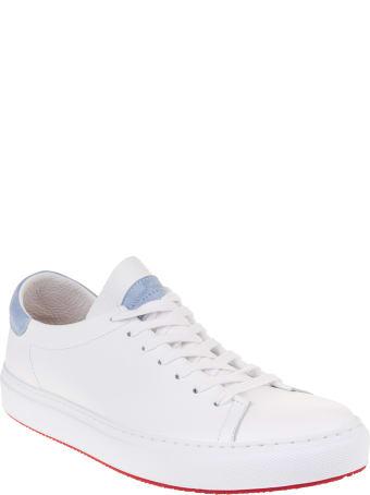 Andrea Ventura Man White And Light Blue Giannutri Sneakers