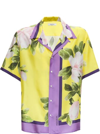 Valentino Bowling Shirt With Floral Print