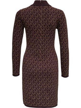 MICHAEL Michael Kors Viscose Blend Dress With Allover Logo Print