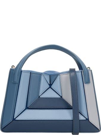 Mlouye Mini Sera Tote Hand Bag In Blue Leather