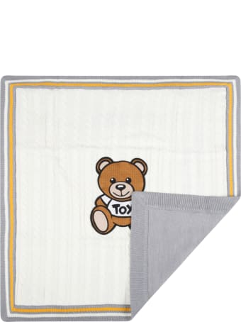 Moschino Ivory Blanket For Baby Kids