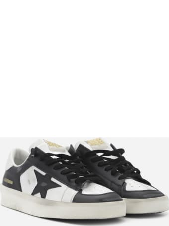 Golden Goose Stardan Sneakers In Leather With Contrasting Inserts