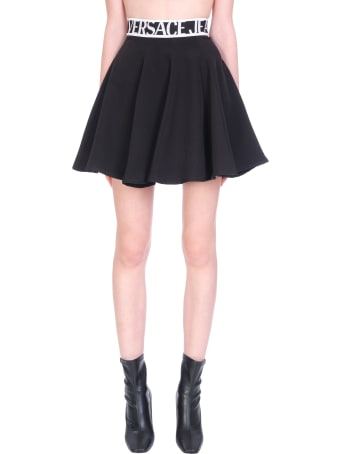 Versace Jeans Couture Skirt In Black Polyester