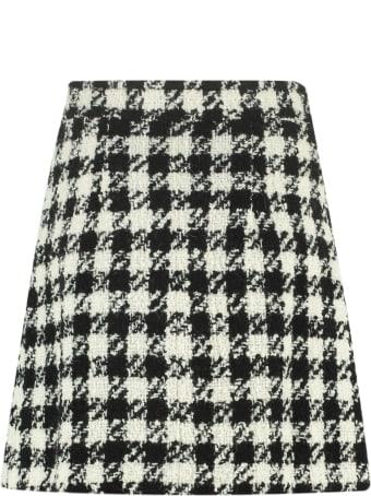 Rodebjer Beata Houndstooth Mini Skirt