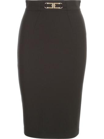 Elisabetta Franchi Loguette Skirt W/buckle