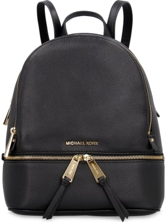Michael Kors Rhea Leather Medium Backpack