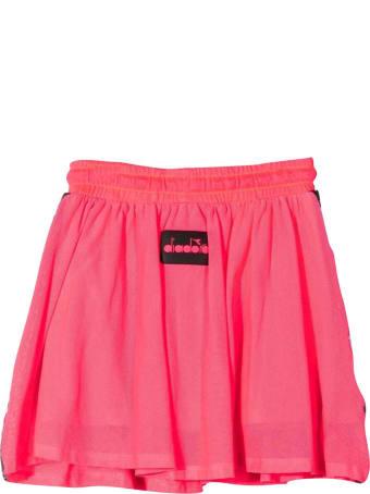 Diadora Diadora Kids Fluo Pink Skirt