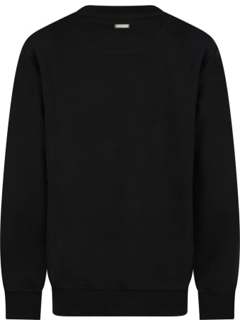 Les Hommes Black Sweatshirt For Boy With Logo