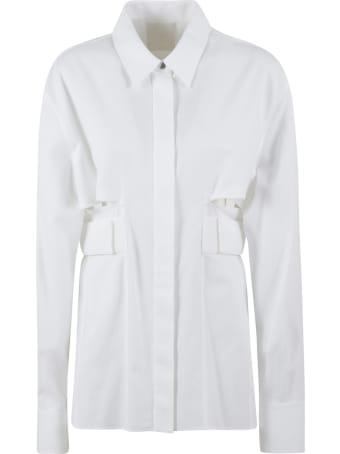 Givenchy Cut-out Detail Plain Shirt