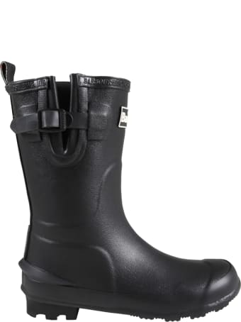 Barbour Black Rain Boots For Kids