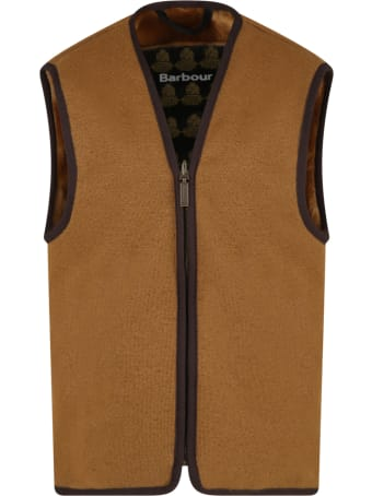 Barbour Brown Vest For Kids