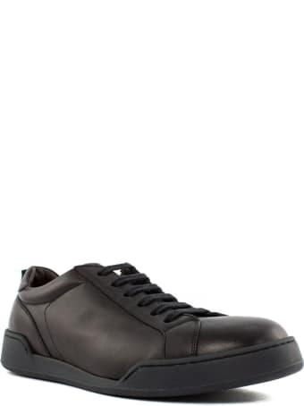 Green George Brown Leather Sneakers
