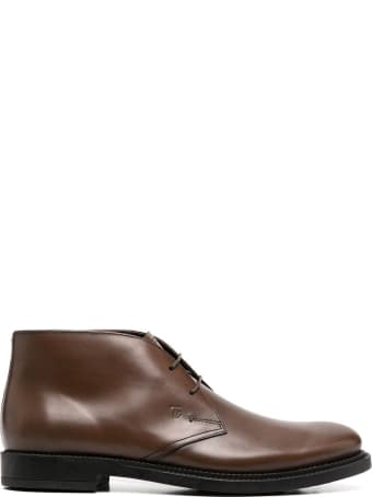 Tod's Desert Boots In Brown Leather