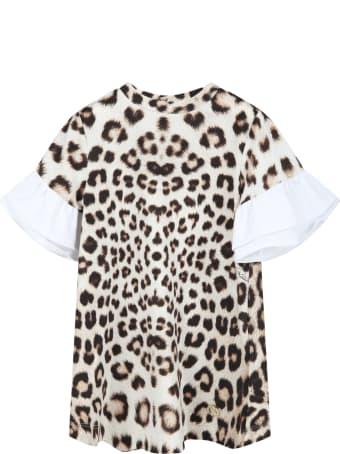 Roberto Cavalli Beige Dress For Baby Girl