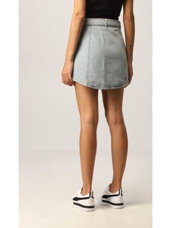 Armani Collezioni Armani Exchange Skirt Used Stretch Denim With Belt