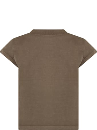 Zadig & Voltaire Green T-shirt For Girl With Logo