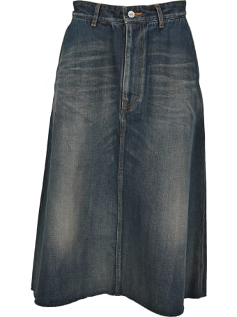 Balenciaga Midi Denim Skirt