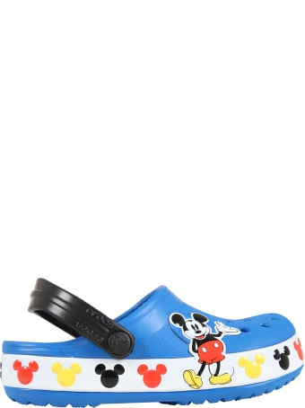 Crocs Blue Sabot For Kids With Mickey Mouse