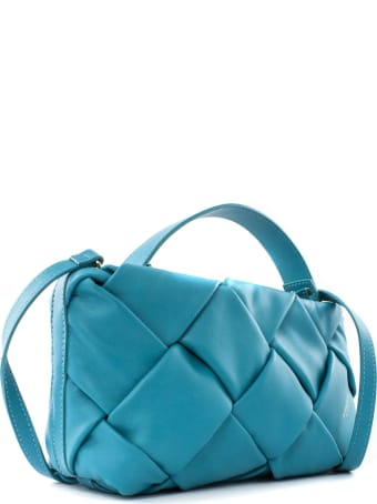 Avenue 67 Greta Clutch Bag In Turquoise Leather