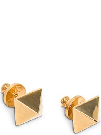 Valentino Garavani Roman Stud Earrings In Golden Brass