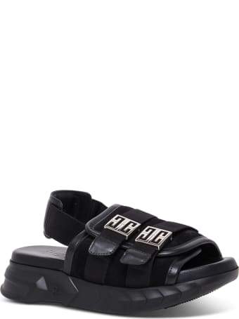 Givenchy Marshmallow Black Suede Sandals
