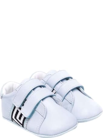 Versace Young Baby Girl Blue Shoes