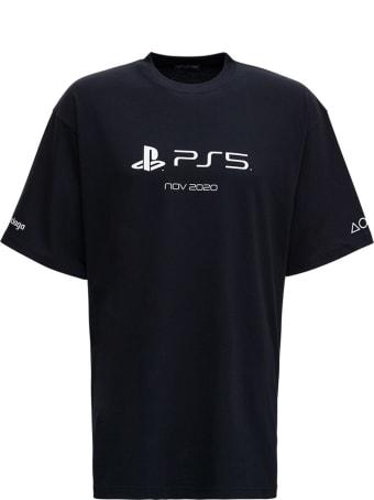 Balenciaga Cotton T-shirt With Playstation Boxy Print