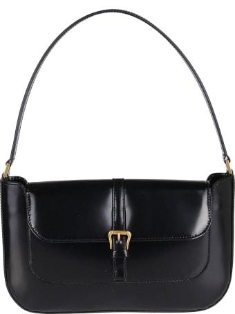BY FAR Black Leather Miranda Shoulder Bag