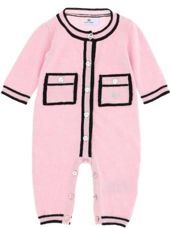 Chiara Ferragni Pink Wool Blend Onesie