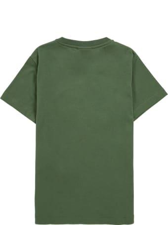 Fendi Green Cotton T-shirt With Logo