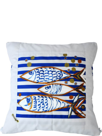 Le Botteghe su Gologone Cotton Hand Painted Indoor Cushion 70x70 cm