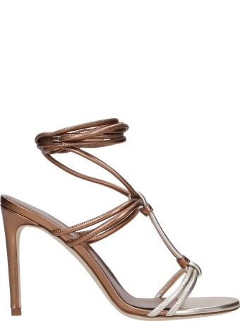 3JUIN Dalia 090 Sandals In Bronze Leather