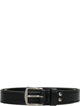 Ann Demeulemeester Bent Belts In Black Leather